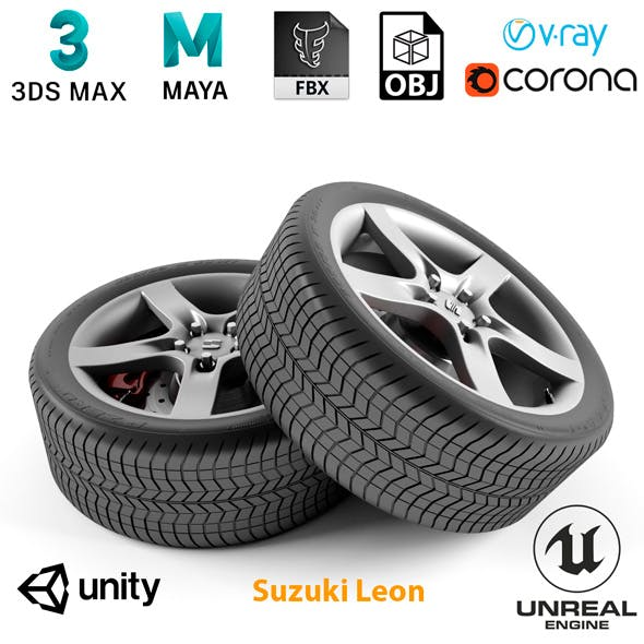 Suzuki Leon Wheel - 3DOcean Item for Sale
