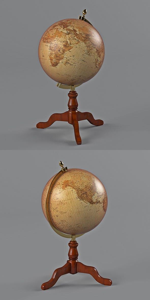 desktop globe - 3DOcean Item for Sale