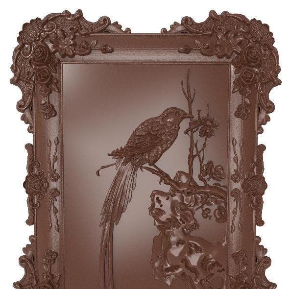 Bird bas relief for CNC