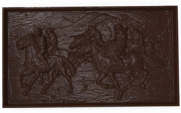 Asian horsemen Bas relief for CNC - 3DOcean Item for Sale