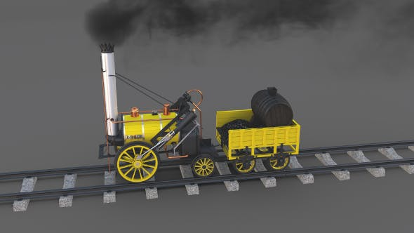 The Stephenson Animated Rocket Locomotive - 3DOcean Item for Sale