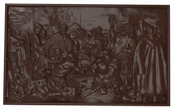 Reply of the Zaporozhian Cossacks Bas relief - 3DOcean Item for Sale