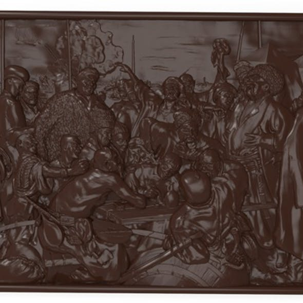 Reply of the Zaporozhian Cossacks Bas relief