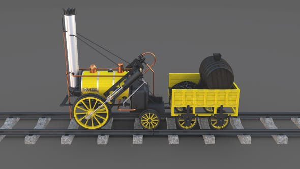 The Stephenson Rocket Locomotive - 3DOcean Item for Sale