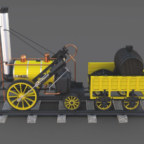 The Stephenson Rocket Locomotive