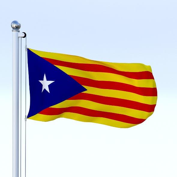Animated Catalonia Flag