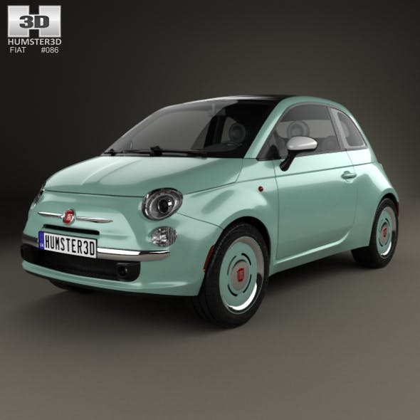 Fiat 500 C San Remo 2014 - 3DOcean Item for Sale