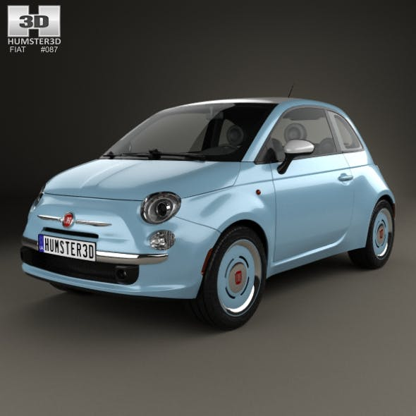 Fiat 500 San Remo 2014 - 3DOcean Item for Sale