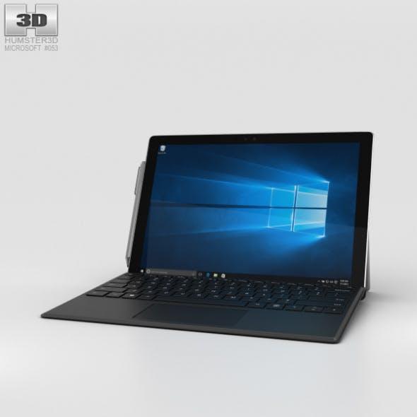 Microsoft Surface Pro 4 Black - 3DOcean Item for Sale