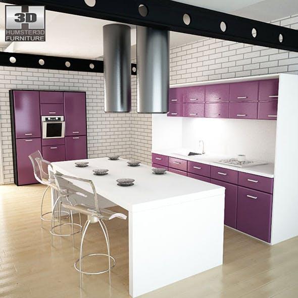 Kitchen set i3 - 3DOcean Item for Sale