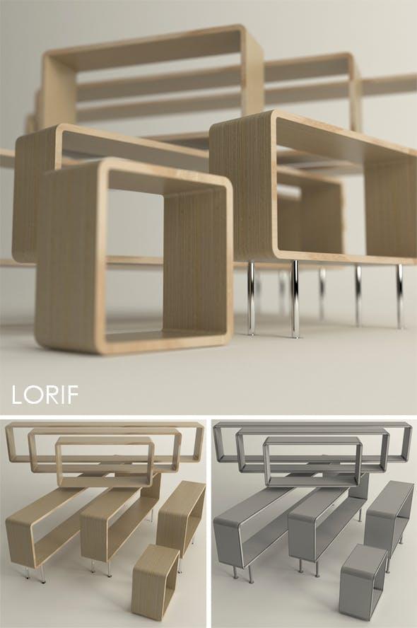 Punkalive Jotos sideboard and shelf - 3DOcean Item for Sale