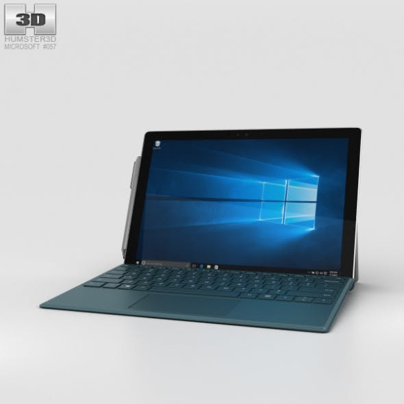 Microsoft Surface Pro 4 Teal - 3DOcean Item for Sale