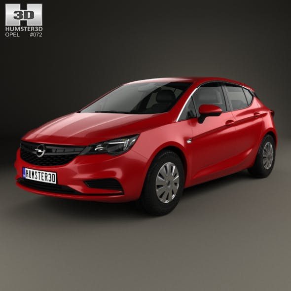 Opel Astra K Selection 2016 - 3DOcean Item for Sale
