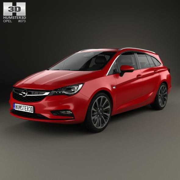 Opel Astra K Sports Tourer 2016 - 3DOcean Item for Sale