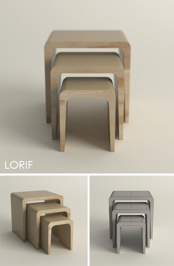 Punkalive Linja nesting tables - 3DOcean Item for Sale