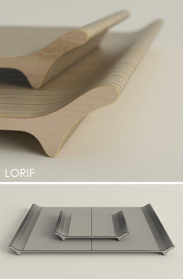 Punkalive Luu tray - 3DOcean Item for Sale