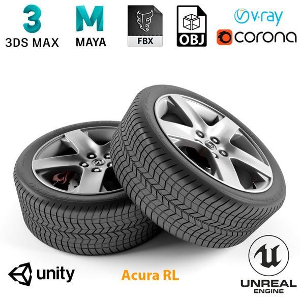 Acura RL Wheel - 3DOcean Item for Sale