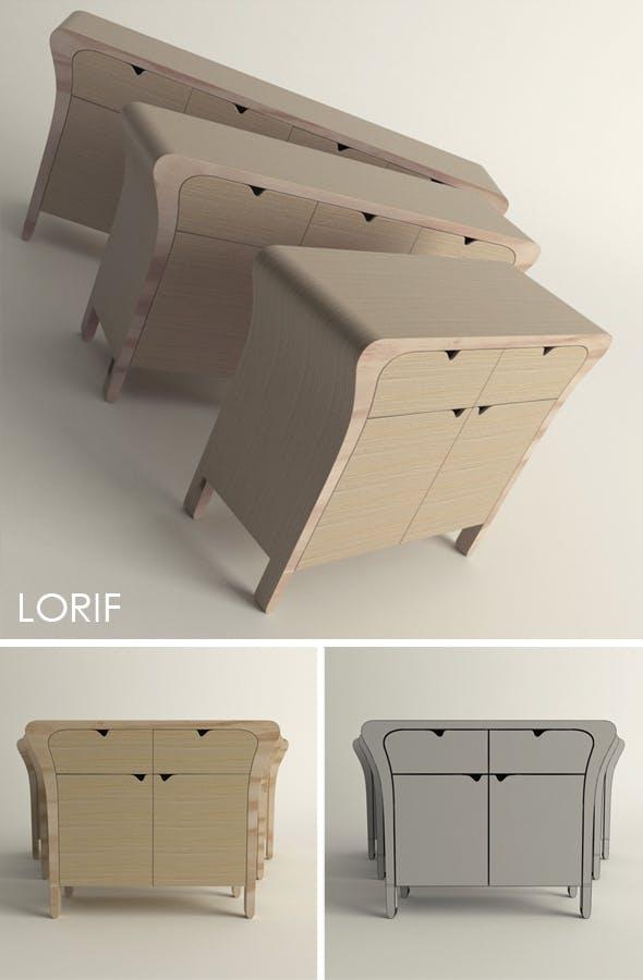 Punkalive Pin cabinet - 3DOcean Item for Sale