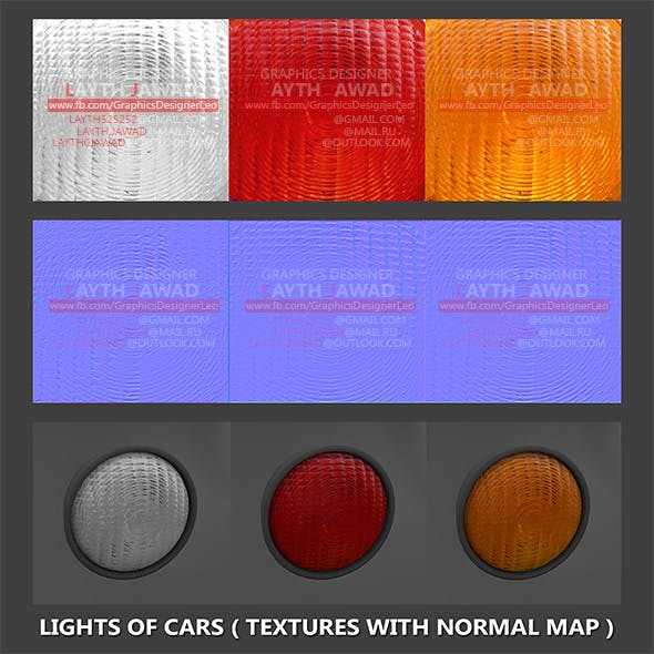 Lights of cars ( Textures with normal map ) - 3DOcean Item for Sale