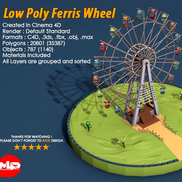 Low Poly Ferris Wheel