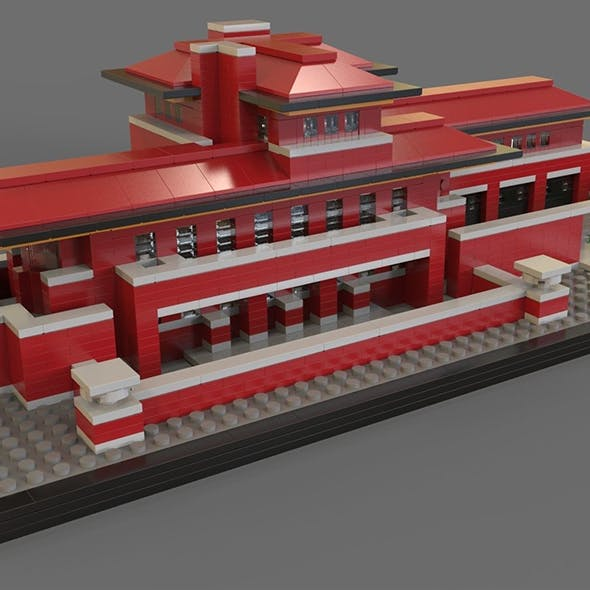 Lego Robie house - 3DOcean Item for Sale