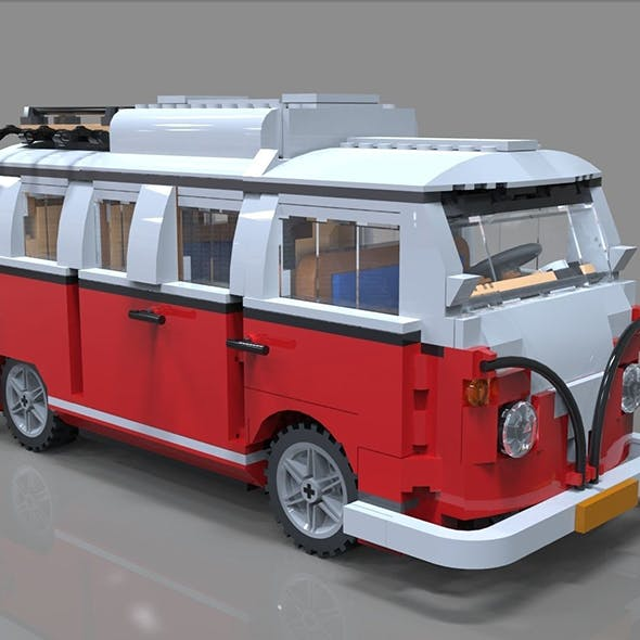 Lego car bus