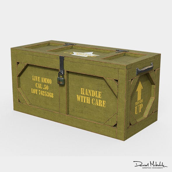 Wooden Military Case PBR - 3DOcean Item for Sale