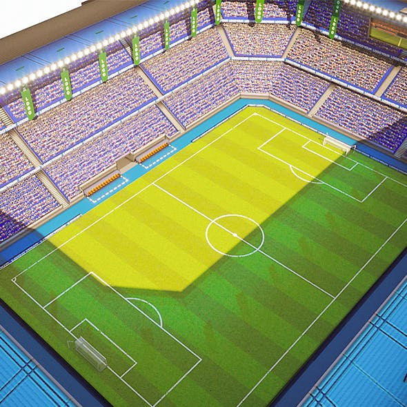 Football Soccer stadium game ready 3d model