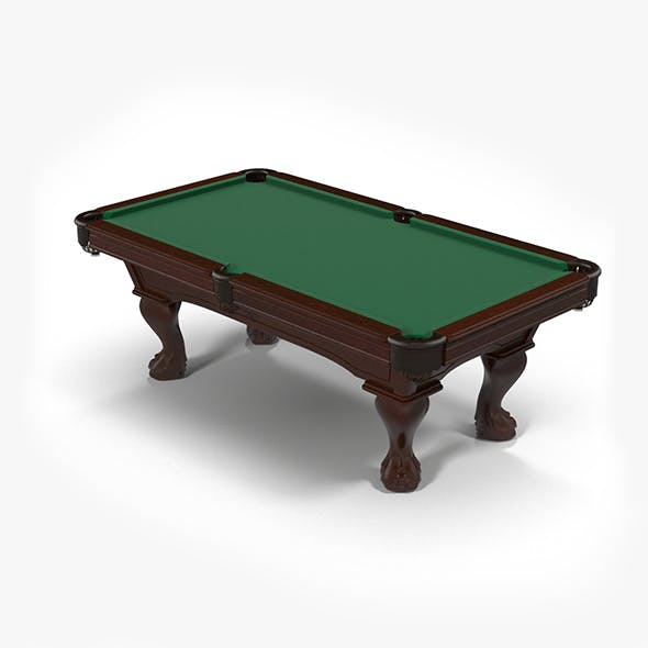 Billiard Table - 3DOcean Item for Sale