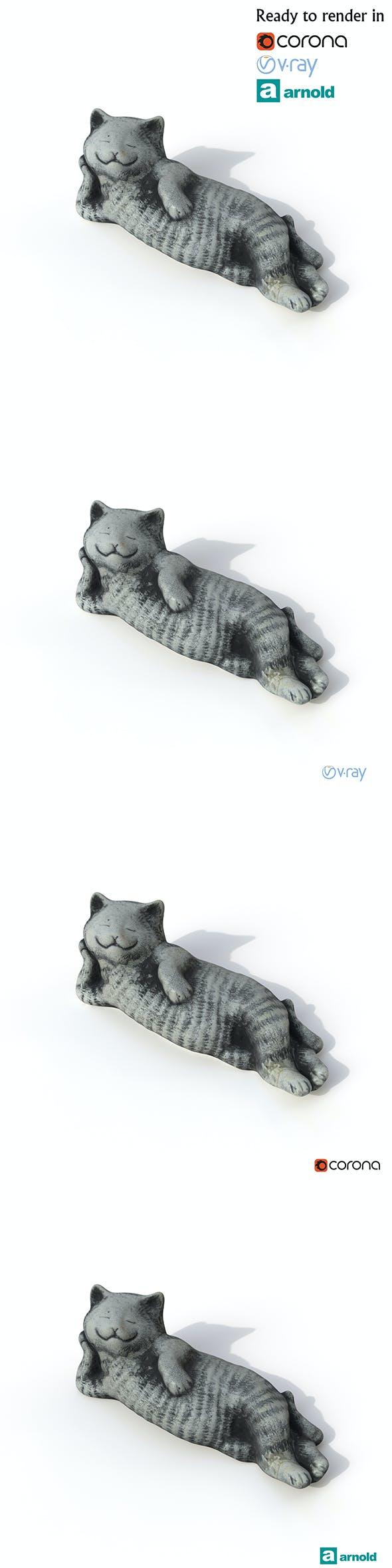 Statuette Cat - 3DOcean Item for Sale