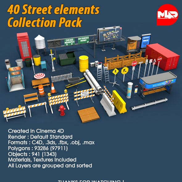 40 Street elements Collection Pack