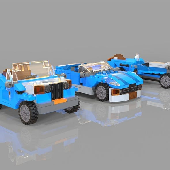 Lego cars pack 3 - 3DOcean Item for Sale