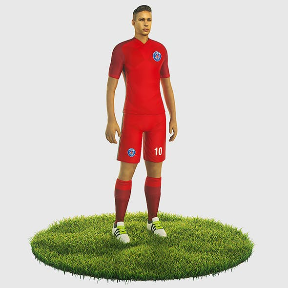 Neymar football Player game ready character