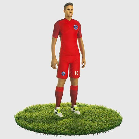 Neymar football Player game ready character