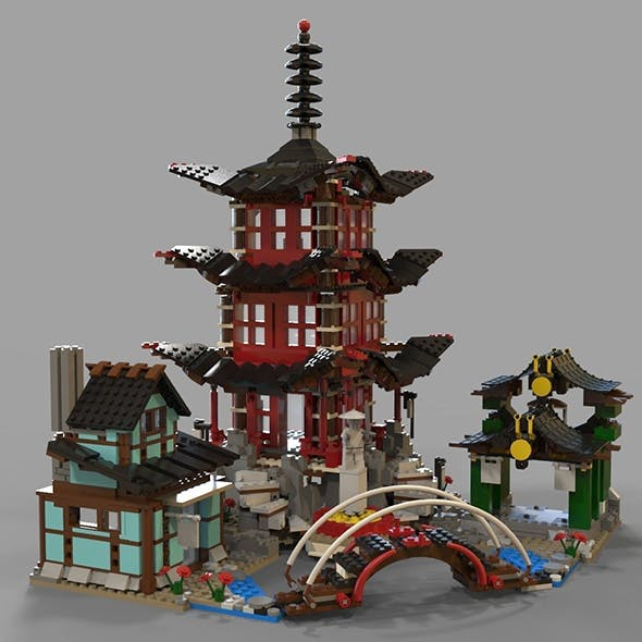 Lego chinese temple - 3DOcean Item for Sale