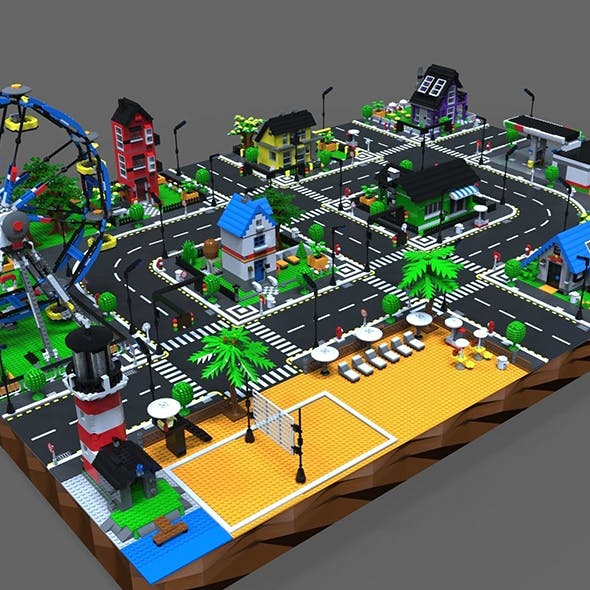Lego City game - 3DOcean Item for Sale