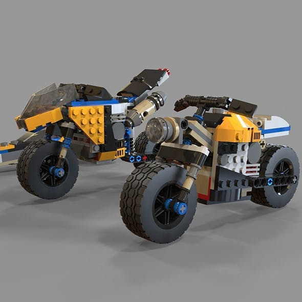 Lego Motorcycles pack 2 - 3DOcean Item for Sale