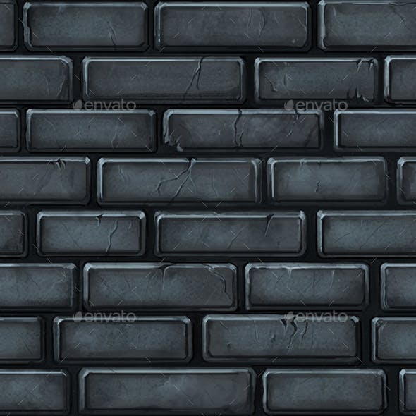 Hand Painted Seamless Stone Wall Texture