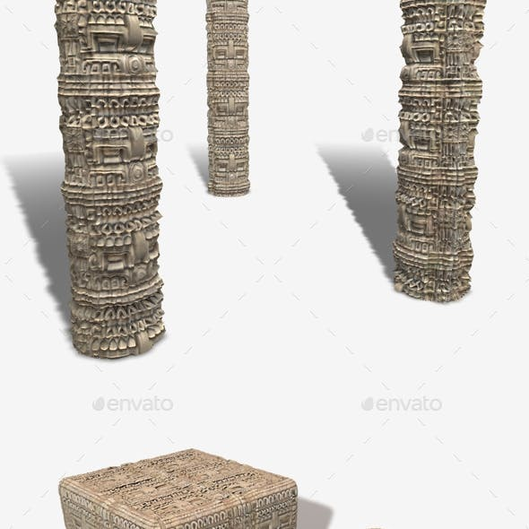 Mexican Stone Carving Seamless Texture