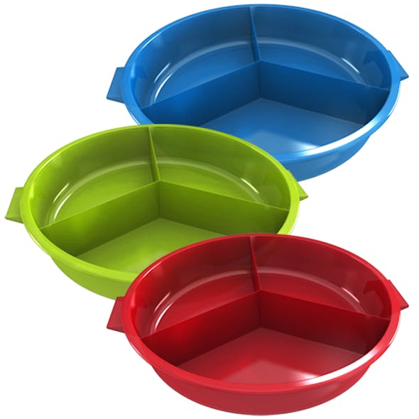 Snack Plastic Plate Divisions Bowl
