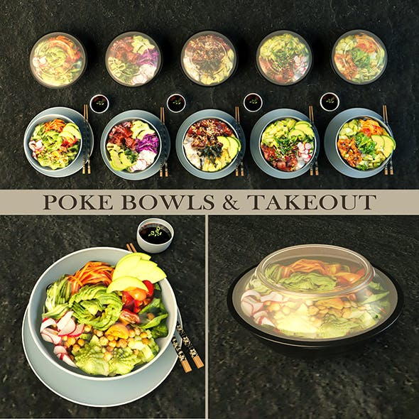 Poke bowl and take out