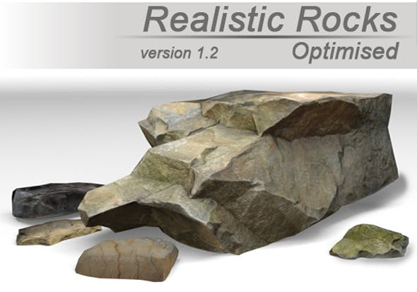 Realistic Rocks Pack - 3DOcean Item for Sale
