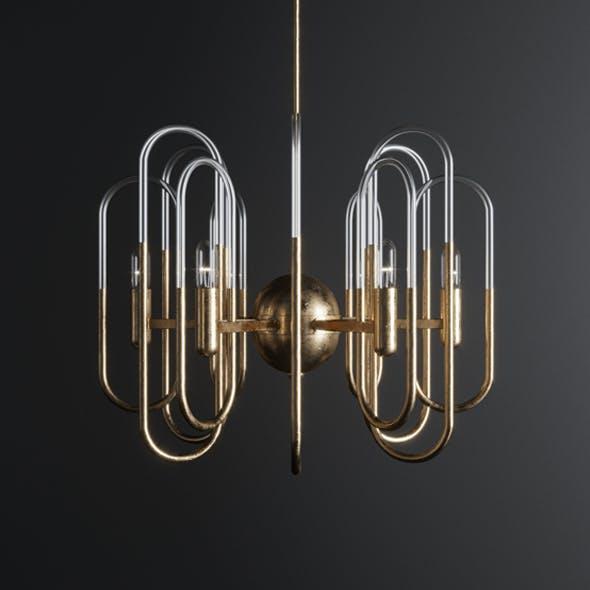 Gaetano Sciolari Brass Chandelier - 3DOcean Item for Sale