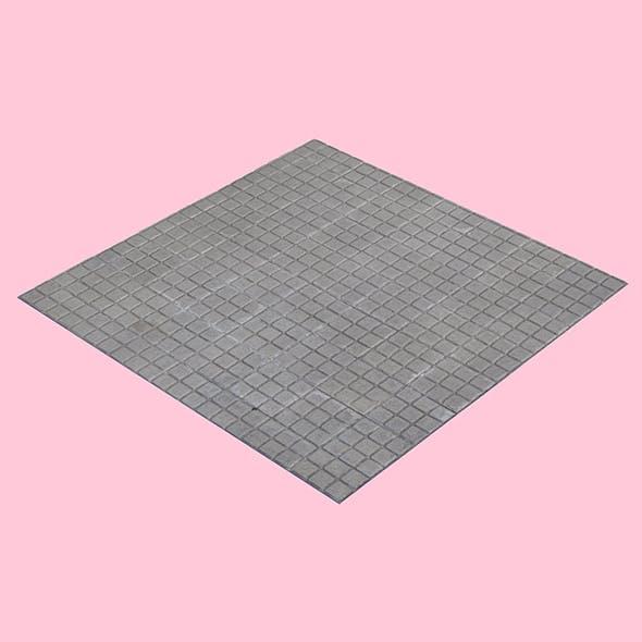 Square Tiled Sidewalk - 3DOcean Item for Sale
