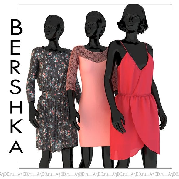 Set of womens clothing dresses Bershka