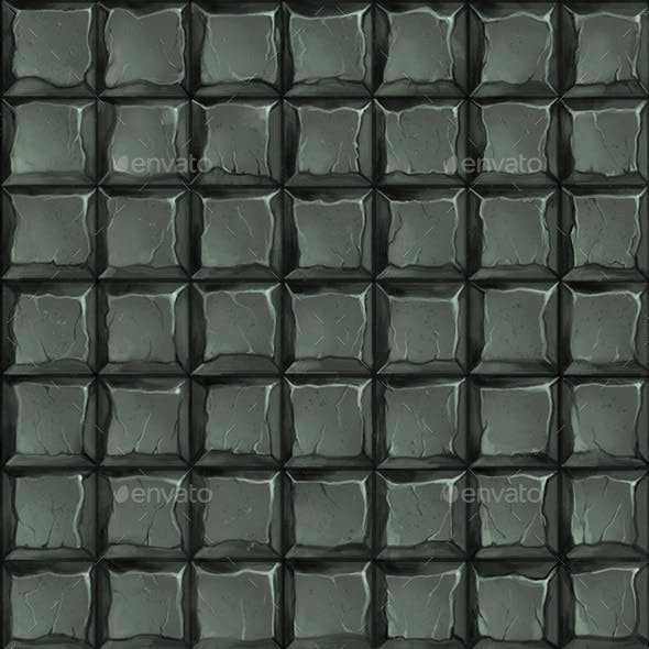 Square stone tiles hand painted seamless texture