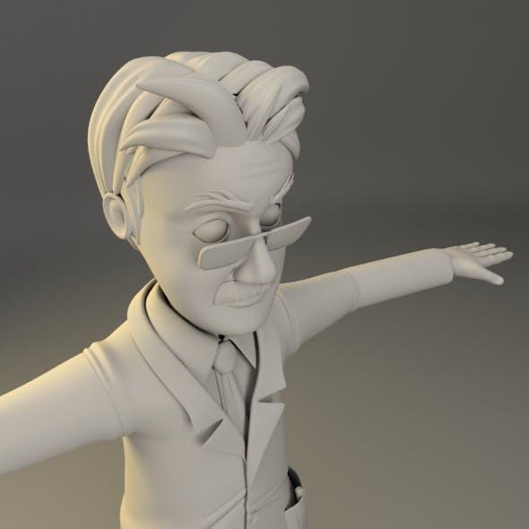 Cartoon Character Male_Professor - 3DOcean Item for Sale