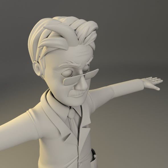 Cartoon Character Male_Professor
