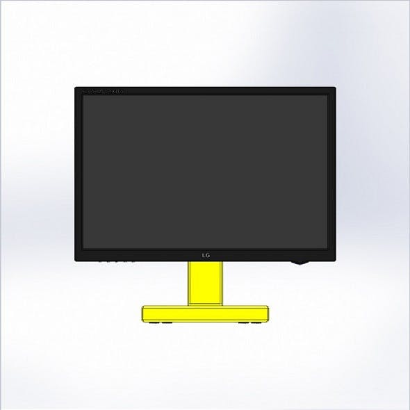 Monitor with industrial stand