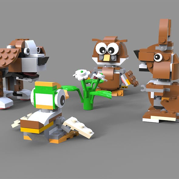 Lego Animals pack 1 - 3DOcean Item for Sale